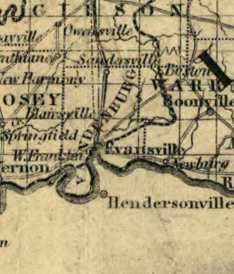 Evansville Illinois Map.Historic Evansville Maps